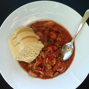 Slow-Cooked Chicken and Sausage Gumbo
