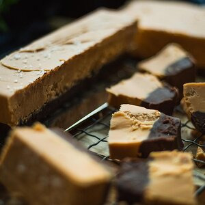 Black Bottom Butterscotch Fudge