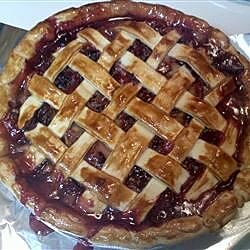 Bluebarb Pie