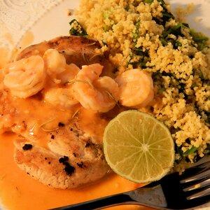 Chicken with Shrimp Sauce