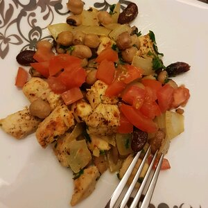 Easy Warm Chickpea Salad