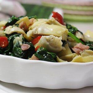 Colorful Spinach and Prosciutto Side