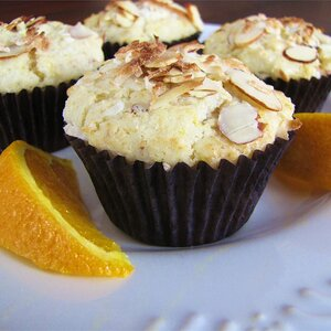 Golden Coconut Almond Muffins