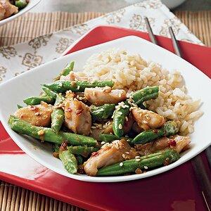 Sesame Honey Chicken and Green Beans