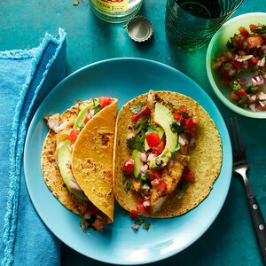 Baked Fish Tacos with Avocado