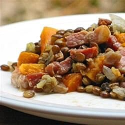 Lentils with Vegetables and Bacon