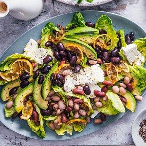 Bean Salad with Charred Lemons