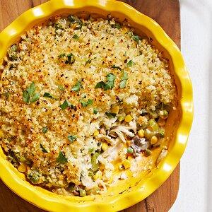 Chicken Potpie with Cauliflower Topping