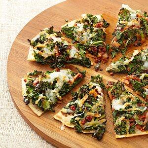Chorizo and Kale Flatbread Wedges