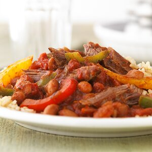 Spicy Steak and Beans