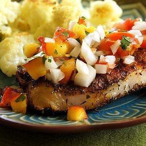 Grilled Pork Chops with Fresh Nectarine Salsa