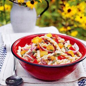 Basil and Tomato Pasta Salad