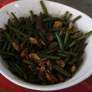 Simply-Delicious Tamari Almond Green Beans