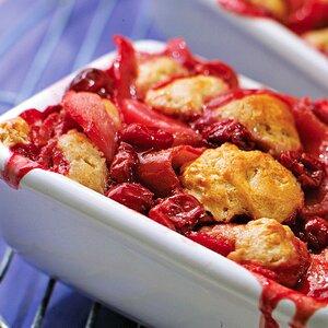 Pear & Cherry Cobbler