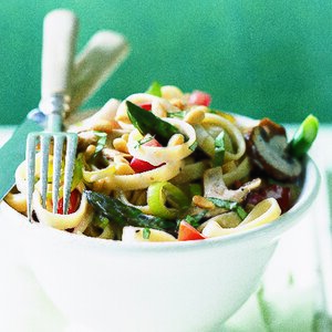 Mushroom & Asparagus Fettuccine