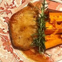Pork Loin Chops in Apple Cream
