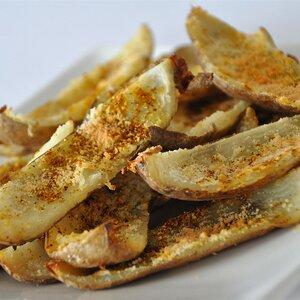 No-Fry Spicy Potato Skins