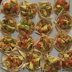 Chicken Fajita Tortilla Cups