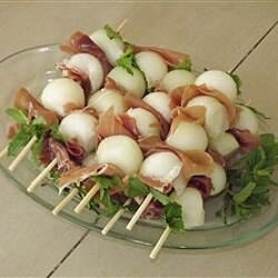 Prosciutto Wrapped Melon Balls