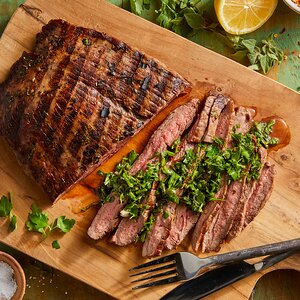 Grilled Steak with Chimichurri