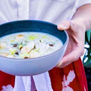 Fish Chowder with Corn & Fennel