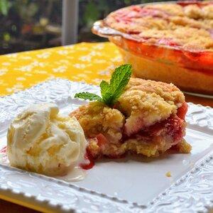 Strawberry-Rhubarb Buckle