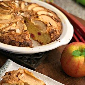 French-Style Apple Rhubarb Cake