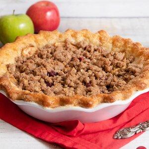 Reduced-Sugar Cranberry Apple Streusel Pie