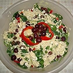 Ramen Spinach Pasta Salad Supreme