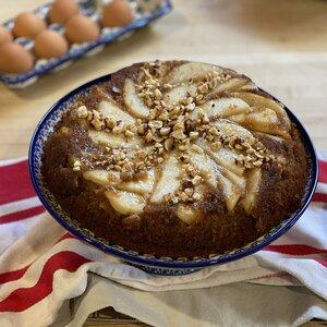 Pear Upside-Down Graham Cake