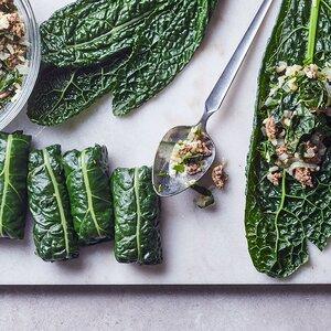 Quick Kale Dolmas