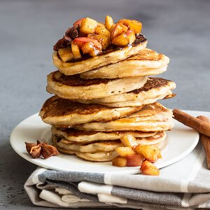 Apple Fritter Buttermilk Pancakes