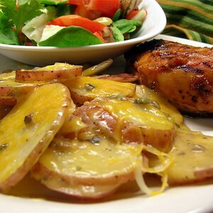 Over the Fire Scalloped Potatoes