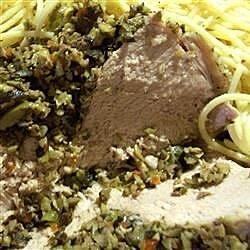 Italian Stuffed Pork Loin with Olive Relish