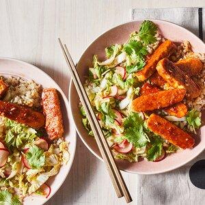 Korean BBQ Tempeh Grain Bowl