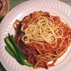 Spaghetti with Corned Beef