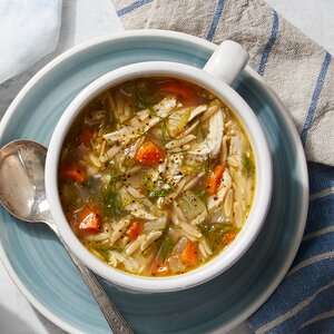 Greek Lemon Chicken & Orzo Soup