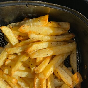Air Fryer Salt and Vinegar Fries for One