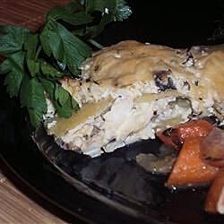 Potato and Shiitake Mushroom Gratin
