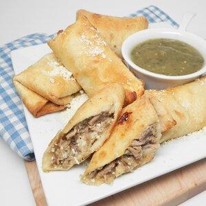 Air Fryer Chile Verde Burritos
