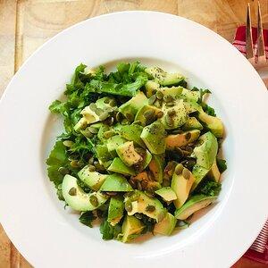 Arugula-Avocado Salad with Pumpkin Seeds