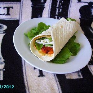 Hummus and Artichoke Wrap