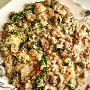 Ground Beef-Spinach Casserole