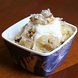 Warm Tropical Banana Ice Cream Topping