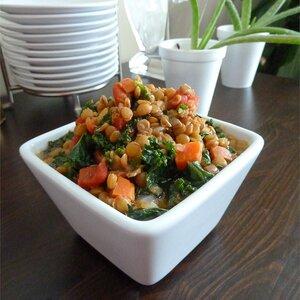 Lemony Lentils with Kale