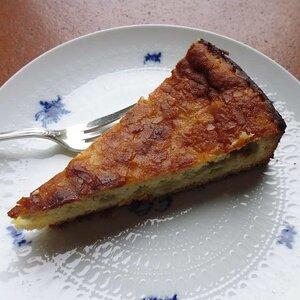 Rhubarb-Almond Custard Cake