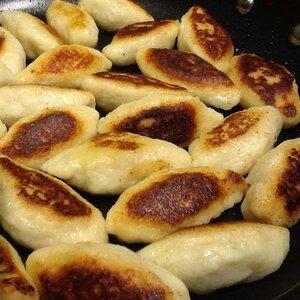 Schupfnudeln (German Fried Potato Dumplings)