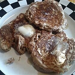 Whole Wheat Apple Pancakes with Brown Sugar Glaze