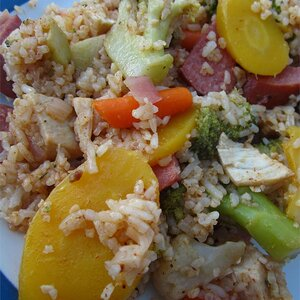 Hearty Garden Chicken and Rice