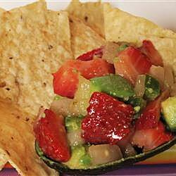 Salsa de fresa y aguacate